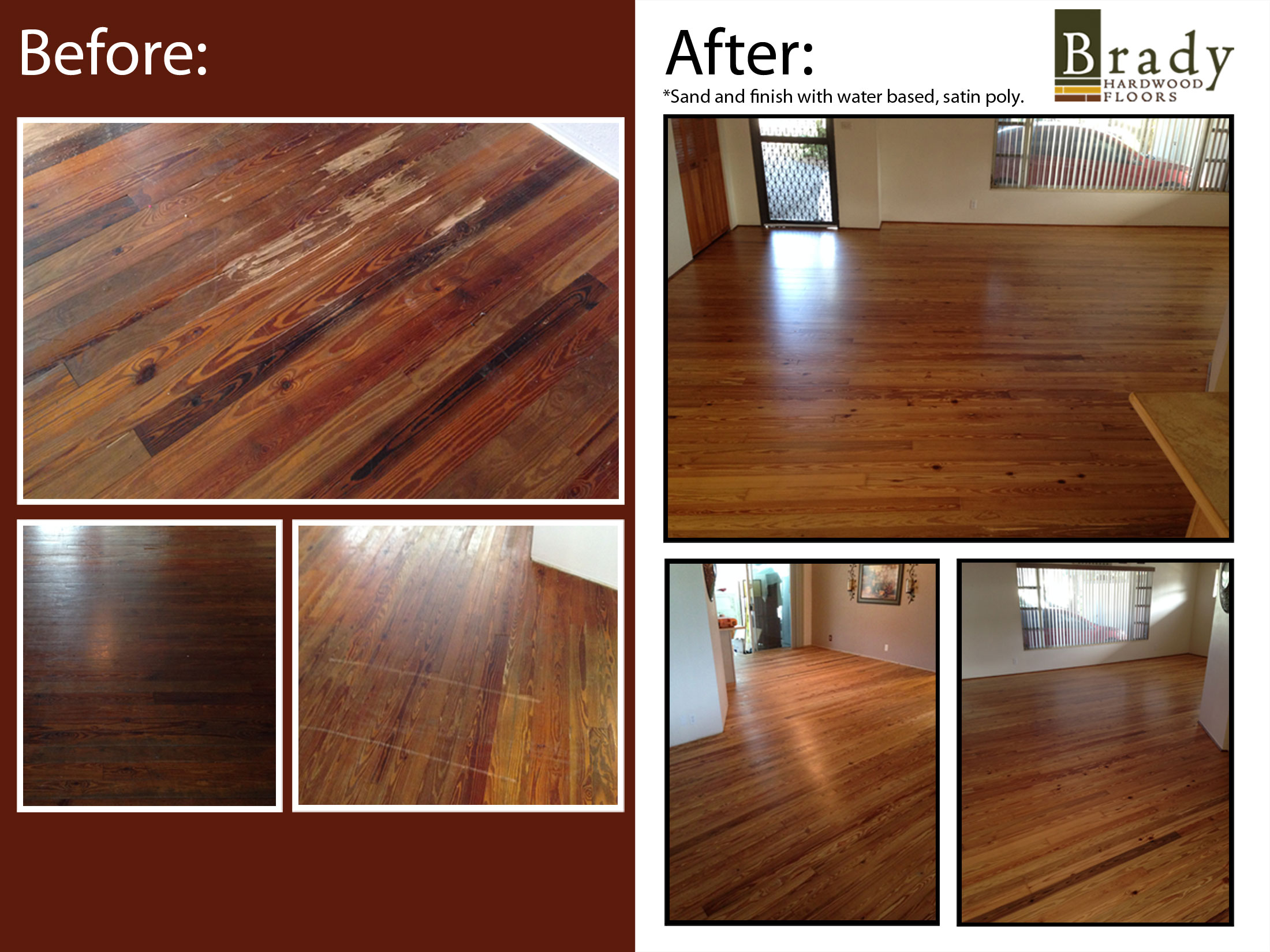 Hardwood Floor Wax whats the best finish for wood floors the craftsman blog Before And After Photos Of Refinished Heart Pine